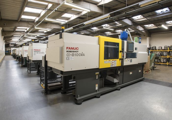 Injection moulding room