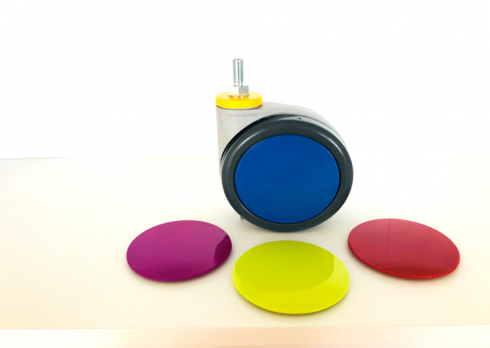 Coloured castors