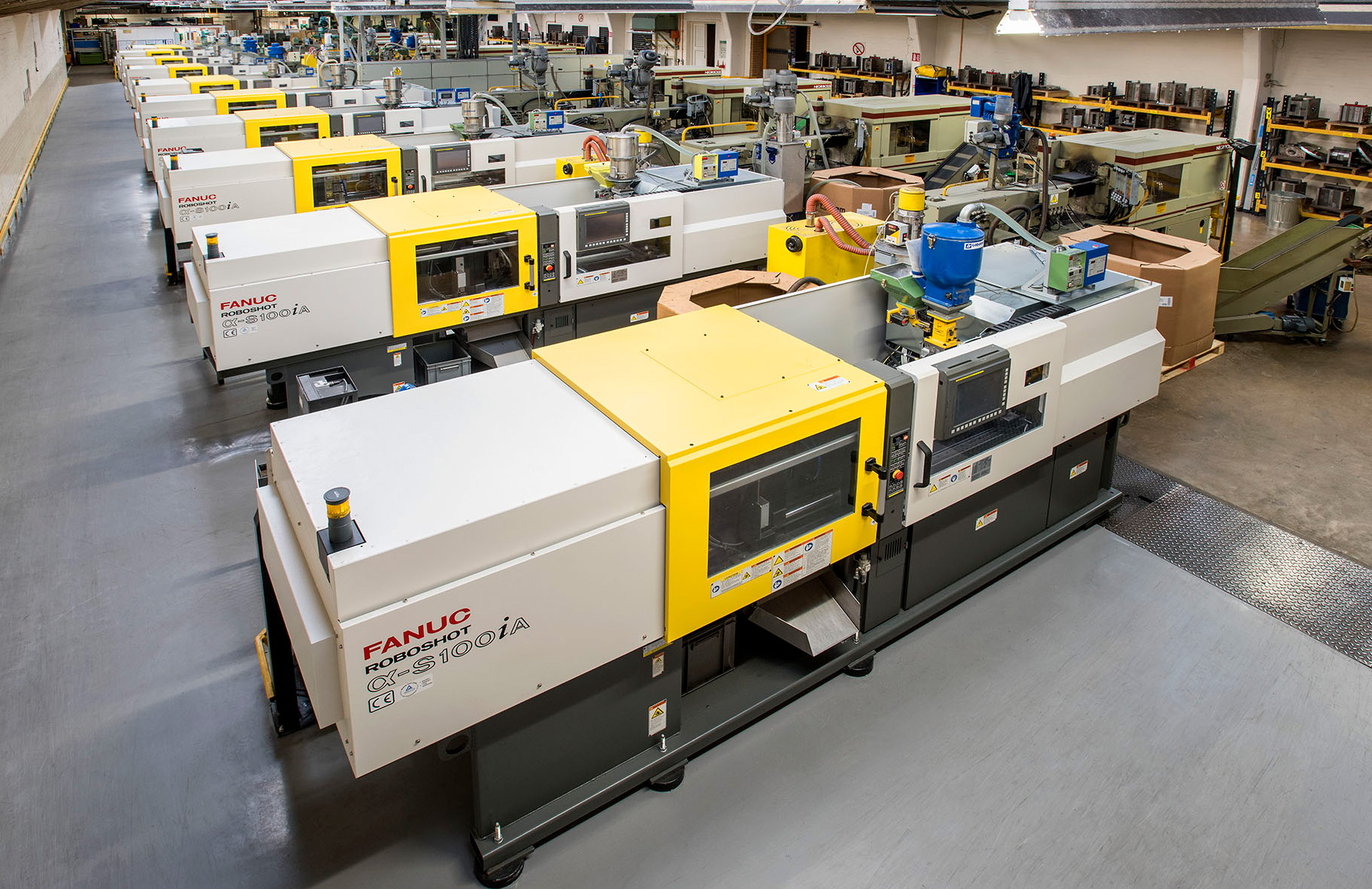 10 Fanuc Injection Moulding Machines