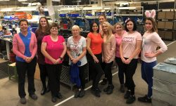 GR staff wearing pink for charity